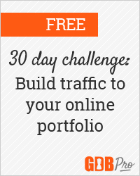 Beginning July 15, 2013: 30 days to build traffic to your portfolio site